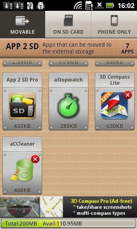 Mueve tus aplicaciones a la tarjeta SD con App 2 SD para Android
