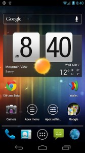 Apex Launcher, interesante launcher para Ice Cream Sandwich