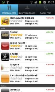 Food2u para Android