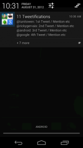Notificaciones push de Twitter en Android con Tweetification