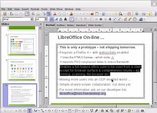 Disponible una versión pre-alpha de LibreOffice para Android