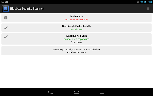 Bluebox Security Scanner Android