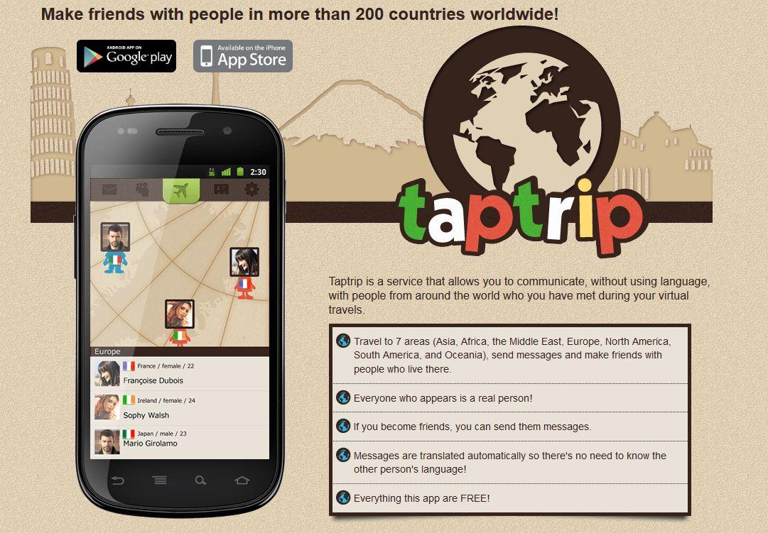 TapTrip Habla gratis con gente de todo el mundo gracias a TapTrip
