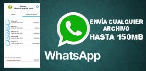 Wasend, una app para enviar archivos de hasta 150 MB por Whatsapp