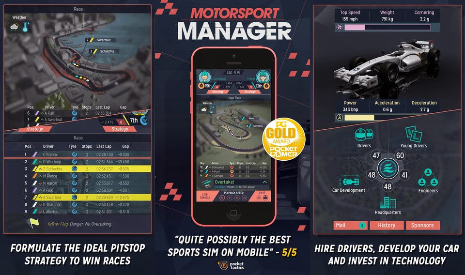 Motorsport Manager disponible para descarga gratuita solo durante unas horas