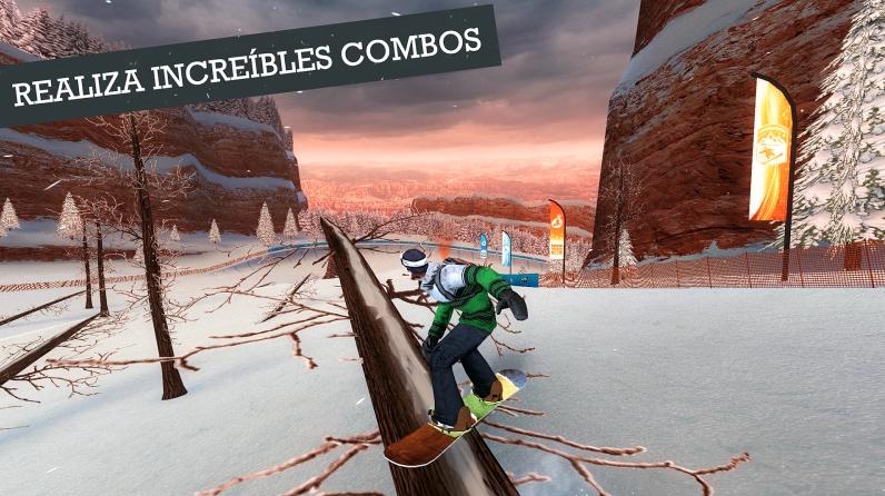Snowboard Party, el mejor simulador de deportes de invierno para Android