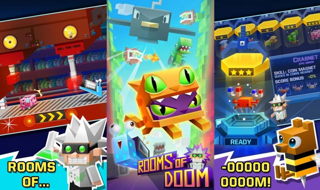 Rooms of Doom, divertida y alocada colección de minijuegos para Android
