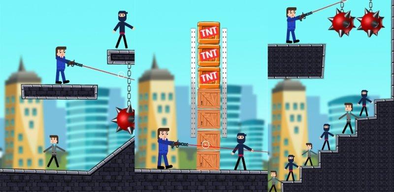 Mr Bullet, un juego de disparos y espías para Android