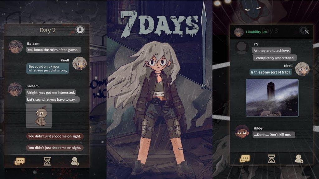 7Days, un juego en el que cada decisión es importante